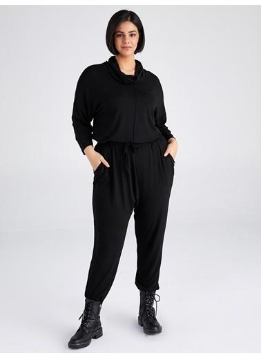 Faik Sönmez  Comfort Fit Örme Pantolon 61800 Siyah